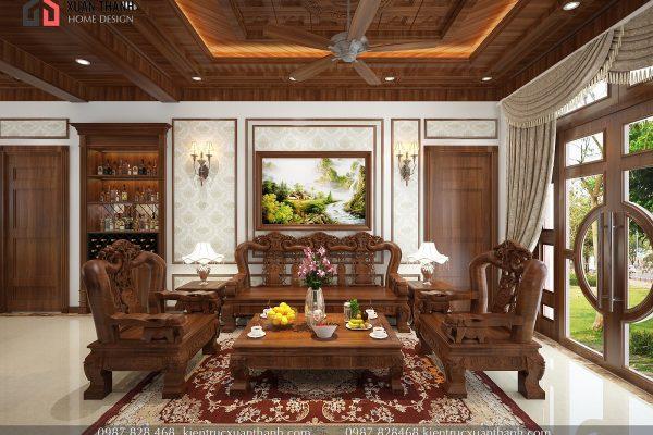 mẫu nội thất phòng khách tân cổ điển NT18054 - Ảnh 6