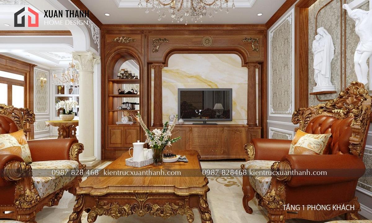 thiết kế nội thất tân cổ điển NT18053 - Ảnh 1