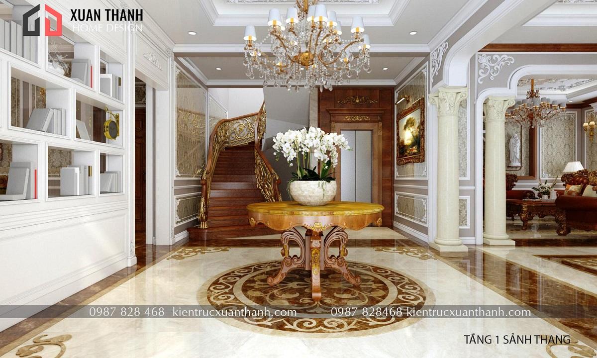 thiết kế nội thất tân cổ điển NT18053 - Ảnh 2