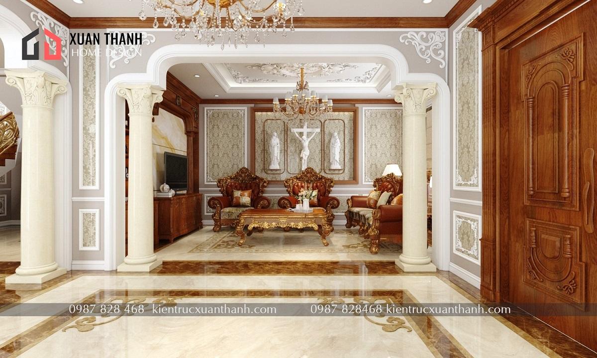 thiết kế nội thất tân cổ điển NT18053 - Ảnh 3