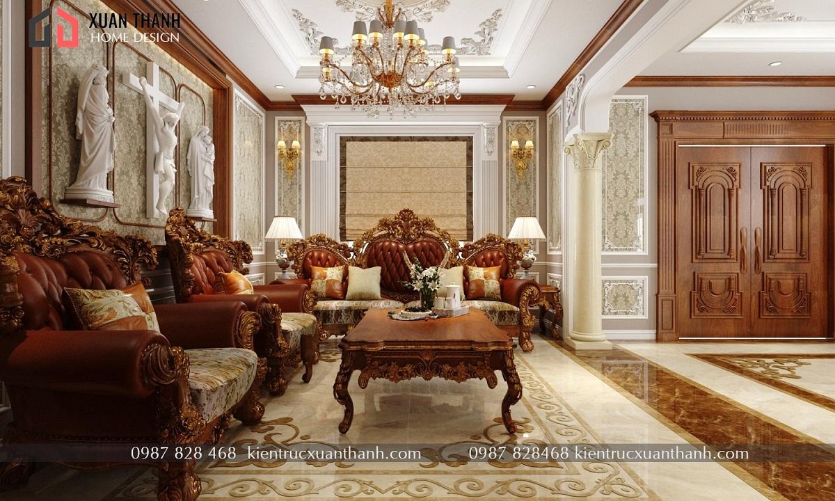 thiết kế nội thất tân cổ điển NT18053 - Ảnh 8